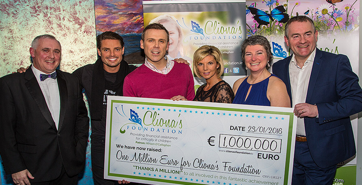 Clionas Foundation Celebrate Raising One Million Euro