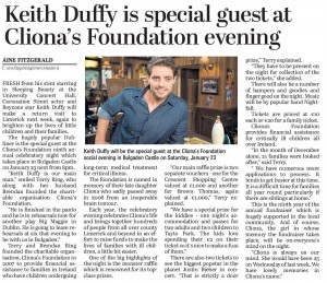 Keith Duffy Special guest at Cliodhnas Evening